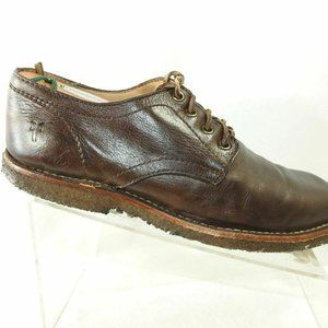 Frye Size 9 D Brown Leather Oxfords Mens R4B11